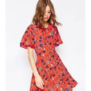 ASOS Floral Printed Tea Dress